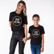Proud to be Her Mom, Proud to be Her Baby, Glitter, Matching Mother Daughter Shirt