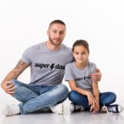 Super Dad Super Kid, Gray/Black