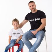 Super Dad Super Kid, Lightning, Black/White, White/Black