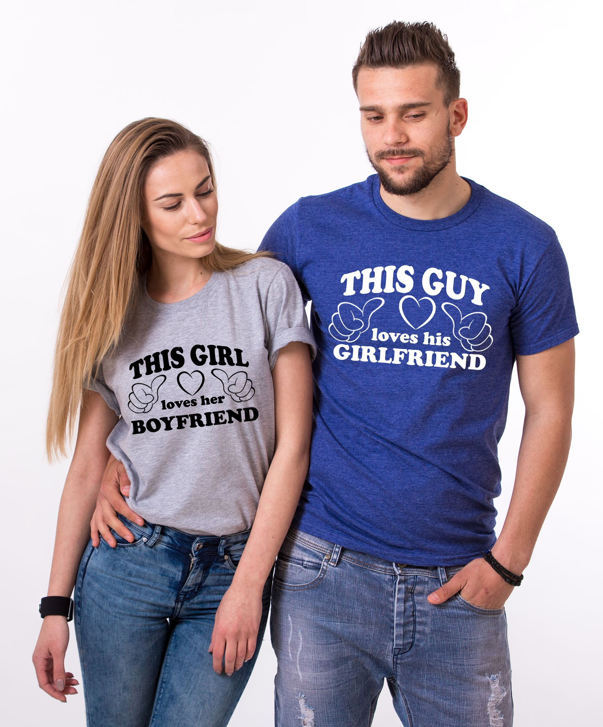 Couple Shirts, This Guy Loves His Girlfriend, This Girl Loves Her Boyfriend-1218