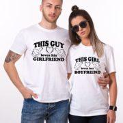 This Guy Loves his Girlfriend, This Girl Loves her Boyfriend, White/Black