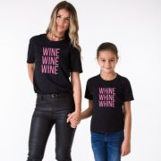 Wine, Whine, Black/Pink