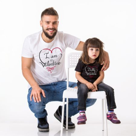 Father Daughter Set, Daddy is My Valentine, I am Her Valentine