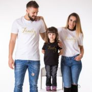 Family Everything, White/Gold, Black/Gold
