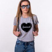 Feminist Shirt, Feminism Heart Shirt, Woman's Rights Shirt, UNISEX