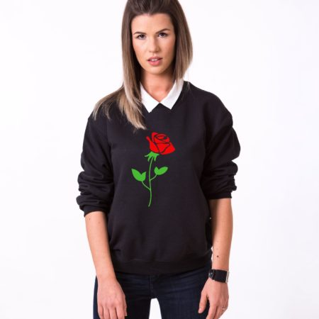 Red Rose Sweatshirt, Flower Sweatshirt, Nature Shirt, Unisex