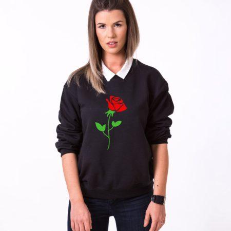 Red Rose Sweatshirt, Flower Sweatshirt, Nature Shirt, Unisex