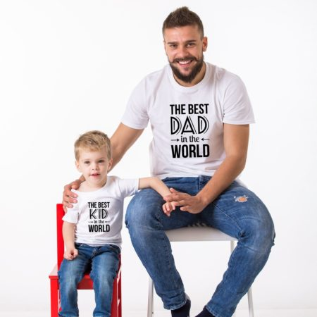 Best Dad in the World Shirt, Best Kid in the World Shirt