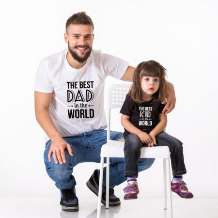Best Dad in the World Shirt, Best Kid in the World Shirt