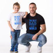 Best Dad in the World, Best Kid in the World, White/Blue, Black/Blue