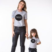 Feminist, Mini Feminist, Gray/Black