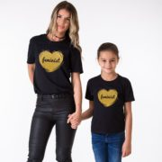 Feminist Mom, Feminist Daughter, Black/Gold