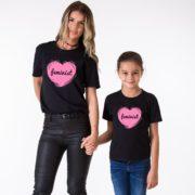 Feminist Mom, Feminist Daughter, Black/Pink