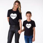 Feminist Mom, Feminist Daughter, Black/White