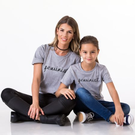 Feminist Mother Daughter Shirts, Matching Mommy and Me