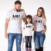Baby Daddy, Baby Mama, Baby, White/Black