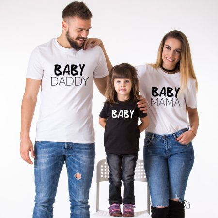 Baby Daddy Baby Mama Baby Shirts, Matching Family Shirts