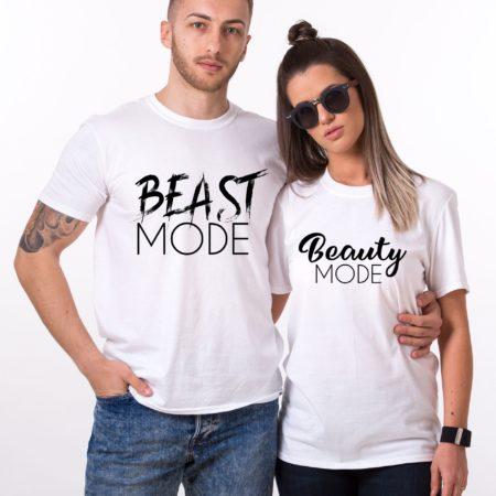 Beast Mode Beauty Mode Shirts, Matching Couples Shirts