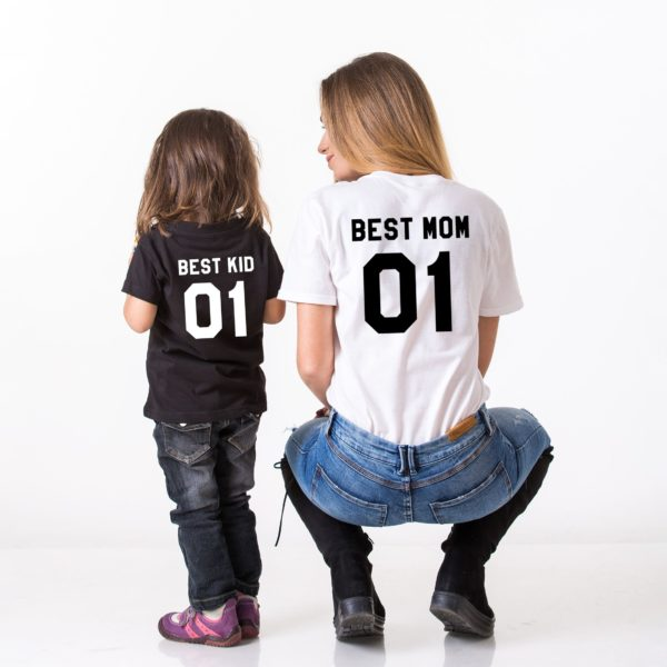 Best Mom, Best Kid, Black/White, White/Black