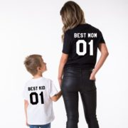 Best Mom, Best Kid, White/Black, Black/White