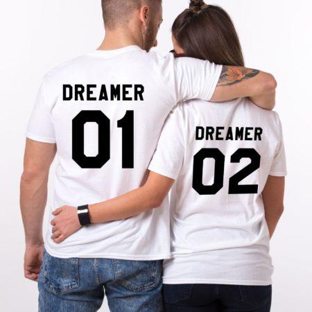 Dreamer Couples Shirts, Dreamer 01, Matching Couples Shirts