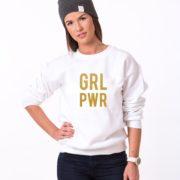 GRL PWR, White/Gold