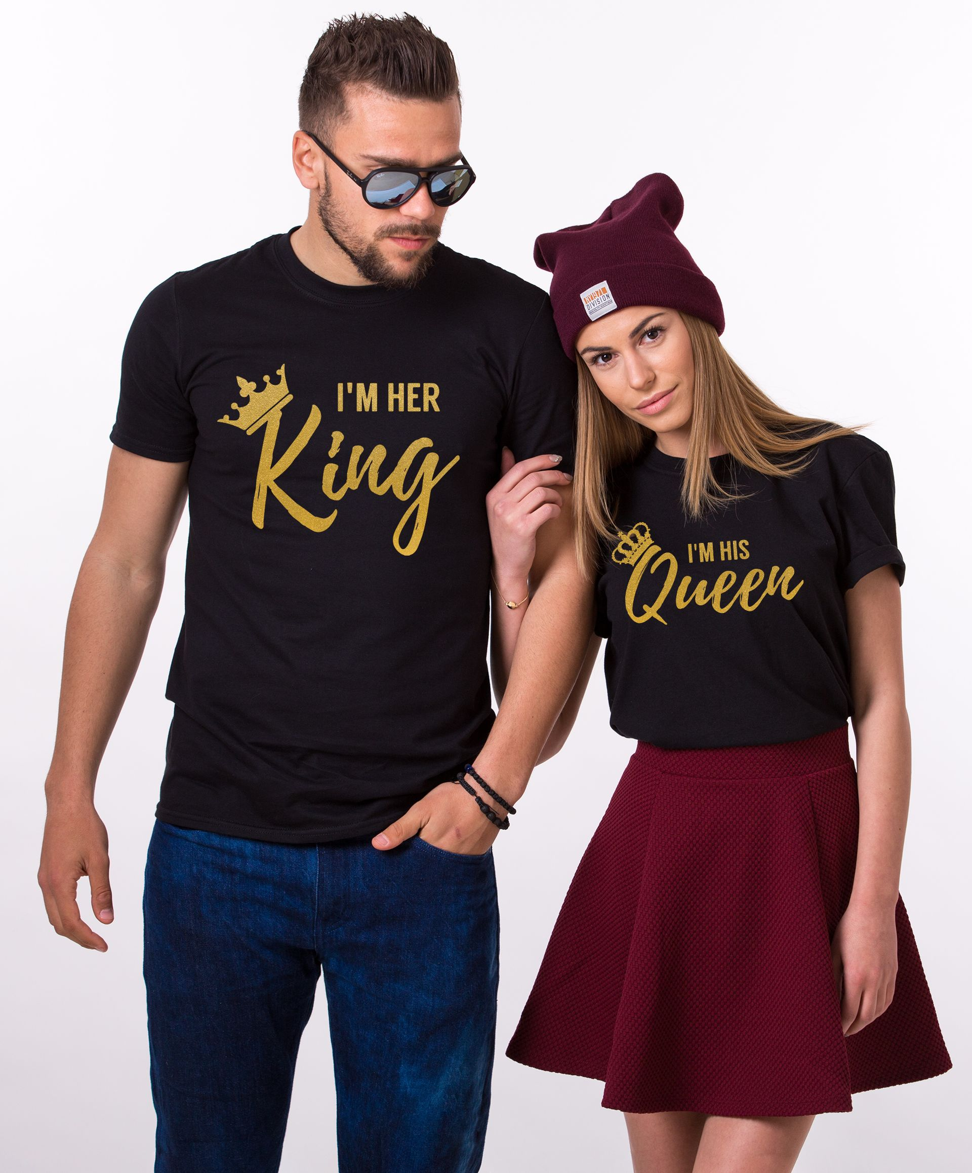 Her King His Queen Shirts Matching Couples Shirts
