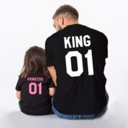 King 01, Princess 01, Black/Pink, Black/White