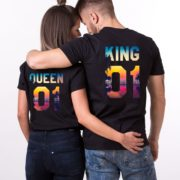 King Queen Tropical, Matching Couples Shirts, UNISEX