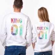 King, Queen, Watercolor 01, White