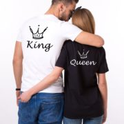 King Queen Crown Shirts, Animated Crowns, Matching Couples Shirts