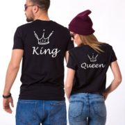 King, Queen, Crowns, Black/White