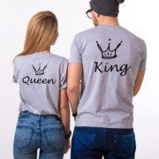 King, Queen, Crowns, Gray/Black