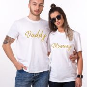 Mommy, Daddy, White/Gold