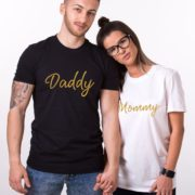 Mommy, Daddy, Black/Gold, White/Gold