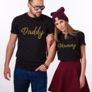 Mommy, Daddy, Black/Gold