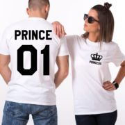 Prince and Princess Crown Shirts, Matching Couples Shirts
