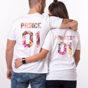 Prince 01, Princess 01, Floral, White
