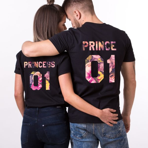 Prince 01, Princess 01, Floral, Black
