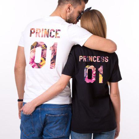 Prince Princess Floral Shirts, Fleur Collection, Matching Couples Shirts