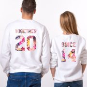Together Since Fleur Sweatshirts, Matching Couples Sweatshirts