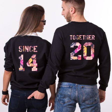 Together Since Fleur Sweatshirts, Matching Couples Sweatshirts