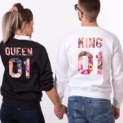 King 01, Queen 01, White, Black, Galaxy