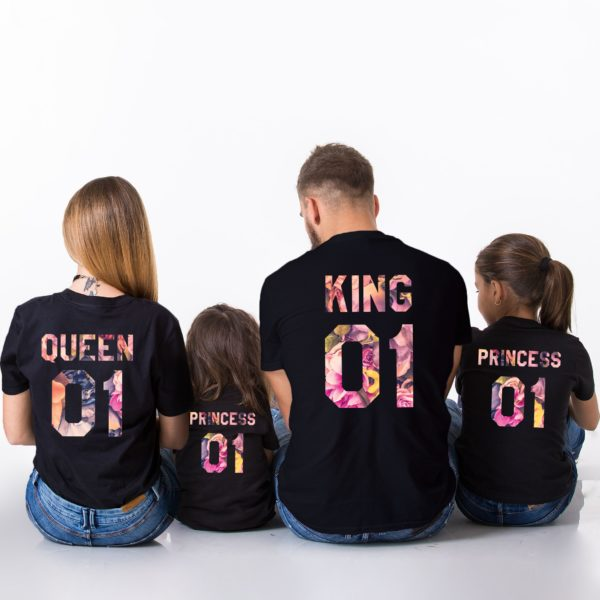 King, Queen, Princess, Black