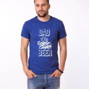 Dad of the Year Shirt, Blue/White
