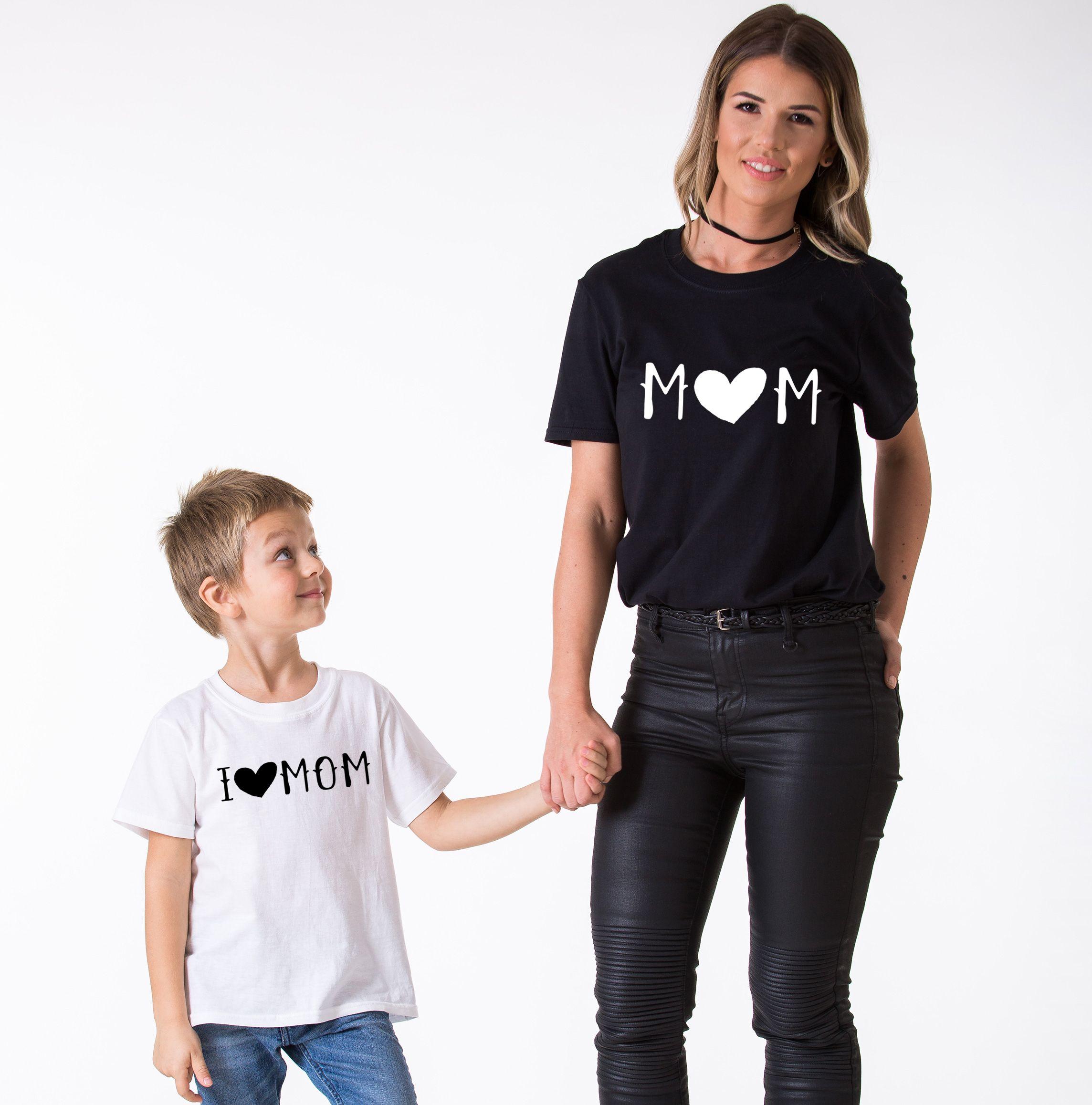 I Love Mom Shirt Mom Shirt Matching Mommy And Me Shirts