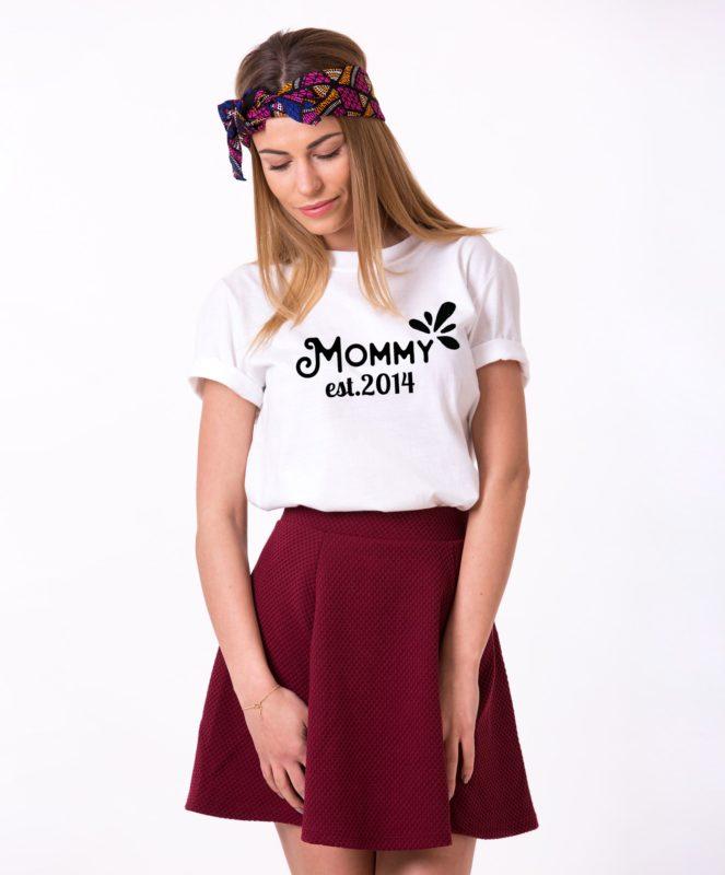 Mommy Shirt, Mommy Est. Shirt, Mom Shirt, Single Shirt