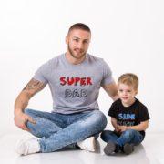 Superdad, Sidekick Shirts, Gray/Black/Red, Black/White/Blue