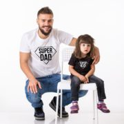 Super Dad, Super Kid Shirts, White/Black, Black/White