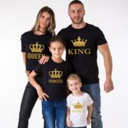 King, Queen, Prince, Princess, Black/Gold, White/Gold